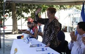 """Primera Palada proyecto en cancha Parque """"Francisco Menéndez"""""""